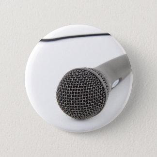 Bóton Redondo 5.08cm Microfone do estúdio