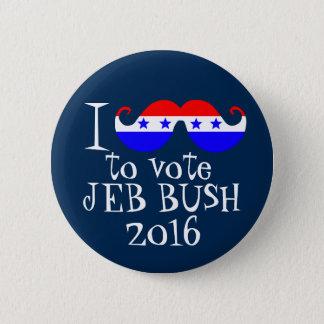 Bóton Redondo 5.08cm Mim bigode você para votar Jeb Bush 2016