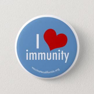 Bóton Redondo 5.08cm Mim botão da imunidade do coração