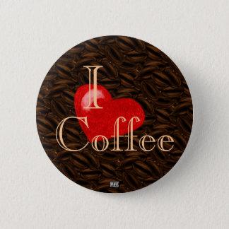 Bóton Redondo 5.08cm Mim botão do café do coração