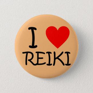 """Bóton Redondo 5.08cm """"Mim botão redondo de Reiki do coração"""""""