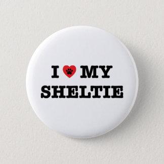 Bóton Redondo 5.08cm Mim coração meu botão de Sheltie