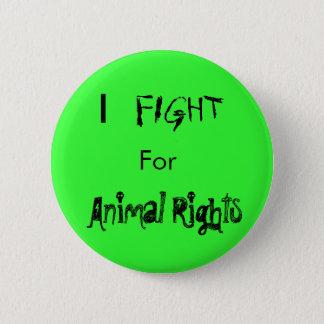 Bóton Redondo 5.08cm Mim, LUTA, para, direitos dos animais