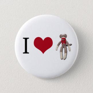Bóton Redondo 5.08cm Mim macaco da peúga do coração