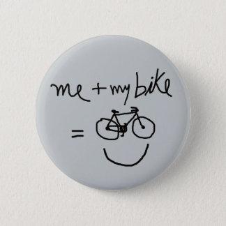 Bóton Redondo 5.08cm mim & minhas bicicleta = felicidade