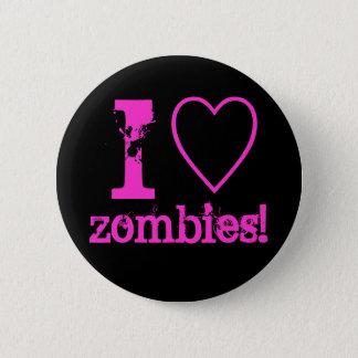 Bóton Redondo 5.08cm Mim zombis do coração!