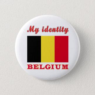 Bóton Redondo 5.08cm Minha identidade Bélgica