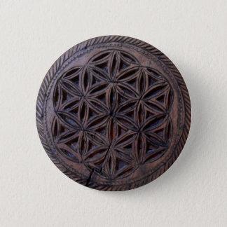 Bóton Redondo 5.08cm mito cinzelado do símbolo do grego clássico motivo