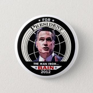 Bóton Redondo 5.08cm Mitt Romney: O homem de BAIN