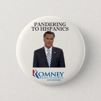 Bóton Redondo 5.08cm Mitt Romney Panders aos hispânicos