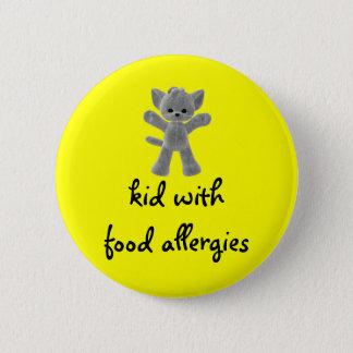 Bóton Redondo 5.08cm Miúdo com alergias de comida