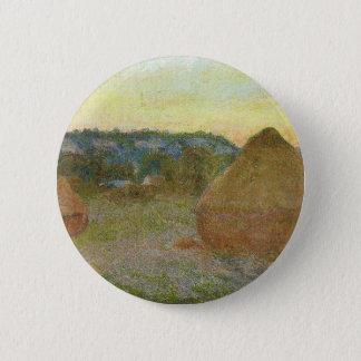 Bóton Redondo 5.08cm Monet - pintura clássica de Wheatstacks