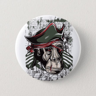 Bóton Redondo 5.08cm monkey o design bonito do pirata