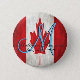 Bóton Redondo 5.08cm Monograma da reunião de família de Canadá