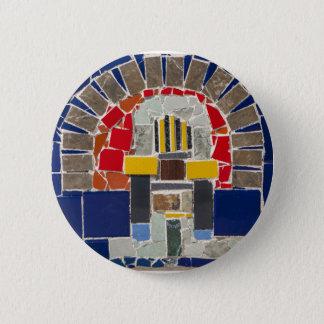 Bóton Redondo 5.08cm Mosaico