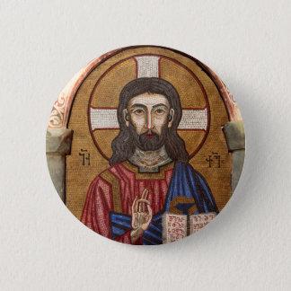 Bóton Redondo 5.08cm Mosaico antigo de Jesus