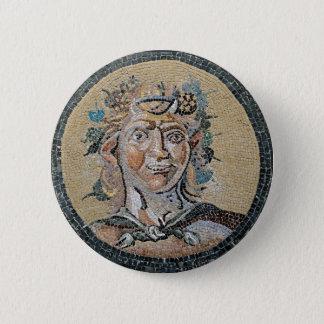Bóton Redondo 5.08cm Mosaico romano antigo do Satyr