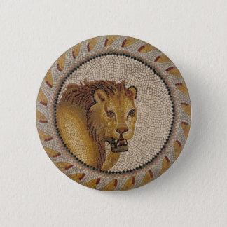 Bóton Redondo 5.08cm Mosaico romano do leão