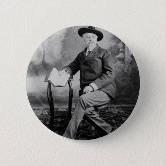 Bóton Redondo 5.08cm Mostra ocidental selvagem de Buffalo Bill Cody