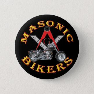 Bóton Redondo 5.08cm Motociclistas maçónicos
