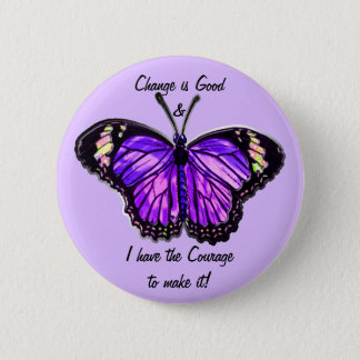 Bóton Redondo 5.08cm Mude é bom (o botão roxo da borboleta)