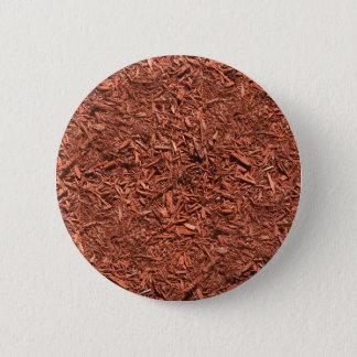 Bóton Redondo 5.08cm mulch detalhado do cedro vermelho para o