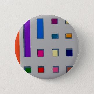 Bóton Redondo 5.08cm Multi cor geométrica