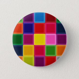 Bóton Redondo 5.08cm Multi quadrados e listras coloridos femininos
