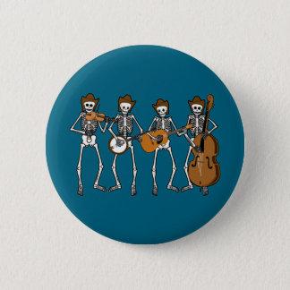 Bóton Redondo 5.08cm Música country que joga os esqueletos