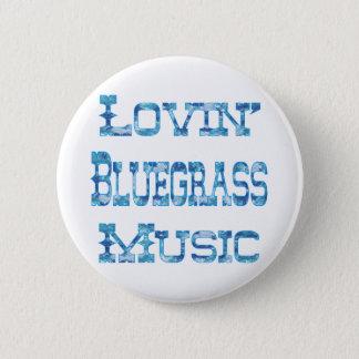Bóton Redondo 5.08cm Música de Bluegrass