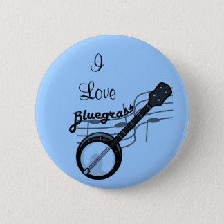 Bóton Redondo 5.08cm Música de Bluegrass com banjo