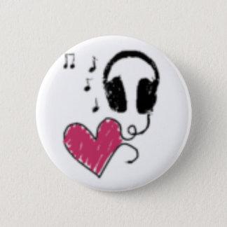 Bóton Redondo 5.08cm Música do amor