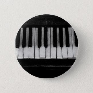 Bóton Redondo 5.08cm Música velha do instrumento do teclado de piano de