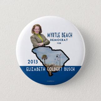 Bóton Redondo 5.08cm Myrtle Beach Democrata para Elizabeth Colbert