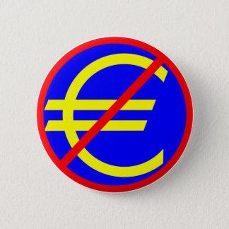 Bóton Redondo 5.08cm Não ao euro