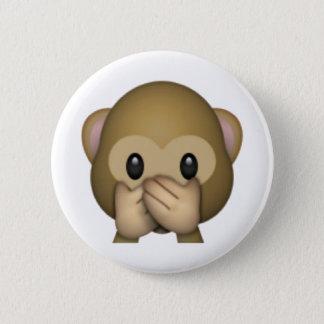 Bóton Redondo 5.08cm Não fale nenhum macaco mau - Emoji