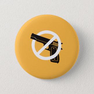 Bóton Redondo 5.08cm Não mais armas (botão - amarelo)