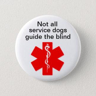 Bóton Redondo 5.08cm não todo o serviço persegue o guia o alerta médico