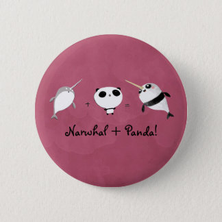 Bóton Redondo 5.08cm Narwhal mais a panda!