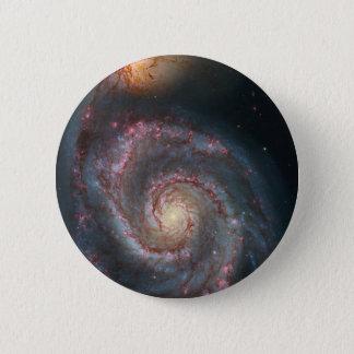 Bóton Redondo 5.08cm NASA da galáxia espiral do redemoinho M51