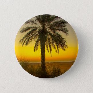 Bóton Redondo 5.08cm Nascer do sol da palmeira