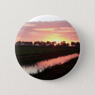 Bóton Redondo 5.08cm Nascer do sol sobre o botão da terra