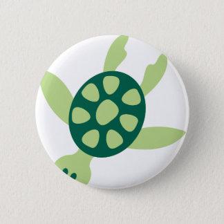 Bóton Redondo 5.08cm Natação da tartaruga verde