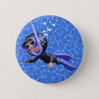 Bóton Redondo 5.08cm natação do mergulhador de mergulhador 3d (toda a
