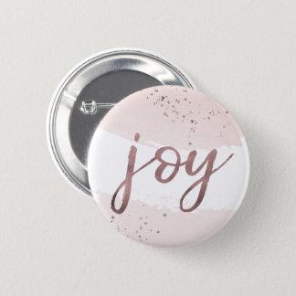Bóton Redondo 5.08cm Natal cor-de-rosa do ouro da alegria |