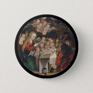 Bóton Redondo 5.08cm Natividade que caracteriza querubins