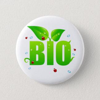 Bóton Redondo 5.08cm Natural orgânico biológico verde