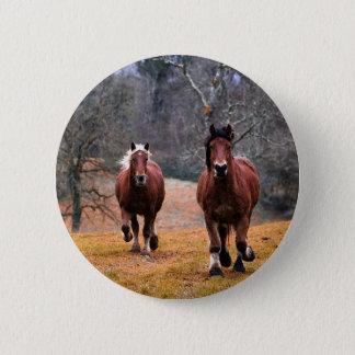 Bóton Redondo 5.08cm Natureza dos cavalos