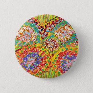 Bóton Redondo 5.08cm NAVEEN todo sorri: Padrões de flor abstratos