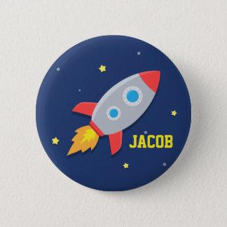 Bóton Redondo 5.08cm Navio de Rocket, o espaço, para meninos